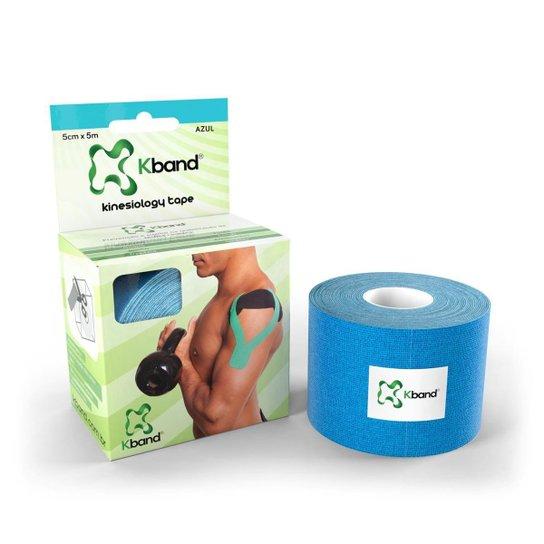 Bandagem Elástica Kinesiology Tape Kband 5m x 5cm - Azul