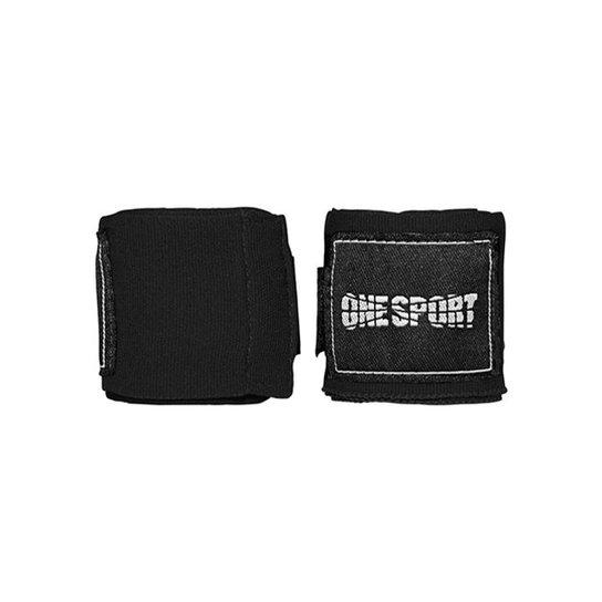 Bandagem Elastica One Sport Muay Thay Proteção 2,5mts - Preto
