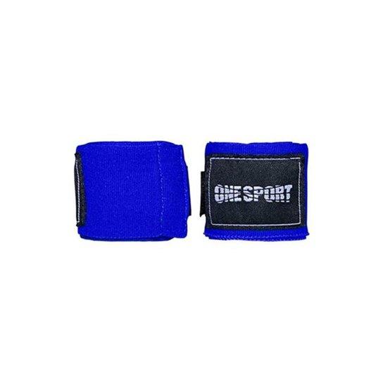 Bandagem Elastica One Sport Muay Thay Proteção 3mts - Azul