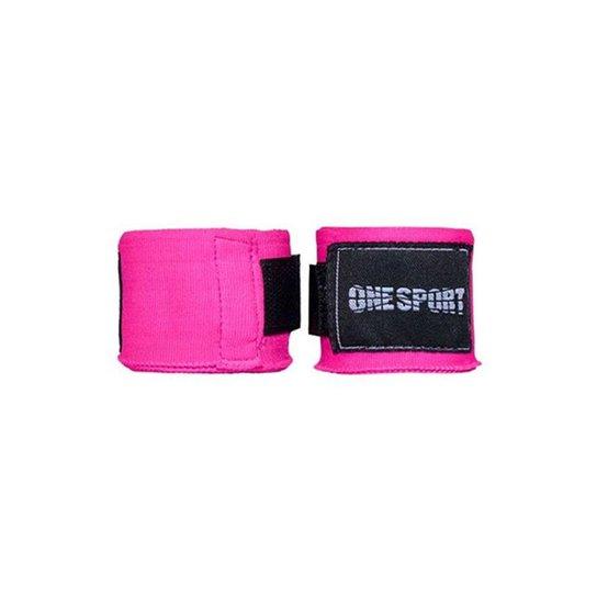 Bandagem Elastica One Sport Muay Thay Proteção 3mts - Rosa
