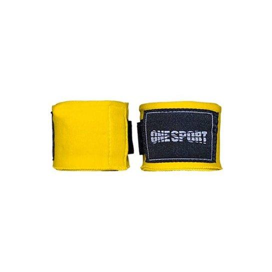 Bandagem Elastica One Sport Muay Thay Proteção 3mts - Amarelo