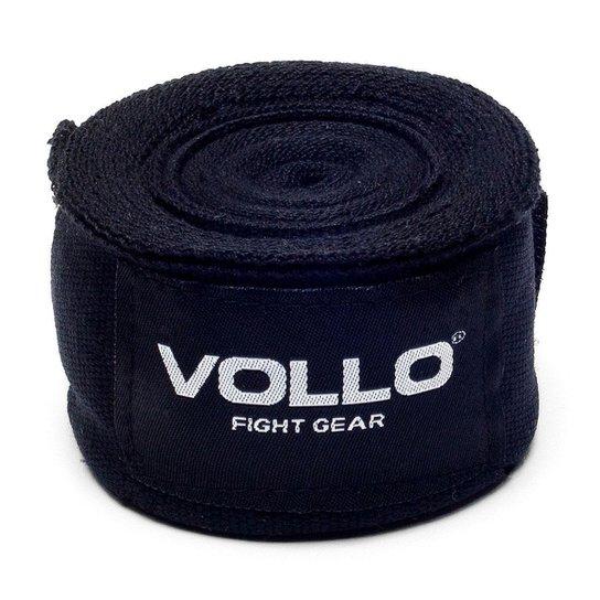 Bandagem Elástica Vfg - Vollo Sports - 50Mm X 3Mts - Par - Preta - Preto