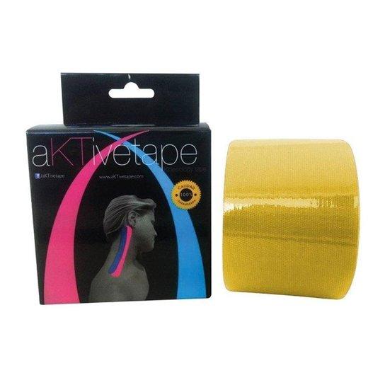 Bandagem Elástica/Kinésio - Aktive Tape - Amarelo
