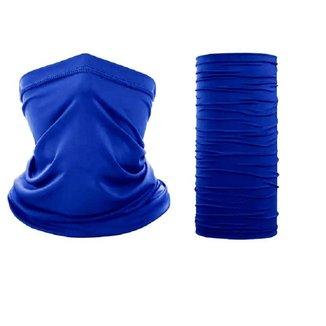 Bandana Azul Royal Para Pesca Moto Ciclismo Com Repelente A Insetos E Proteção UV50+