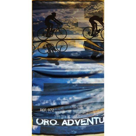 Bandana Buff Lenço Bike 2 Para Moto Pesca E Ciclismo Com Proteção UV50+ Tamanho Único - Azul