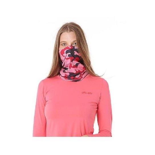 Bandana Buff Lenço Camuflado Rosa Para Moto Pesca E Ciclismo Com Proteção Uv50+Tamanho Único - Camuflado Rosa