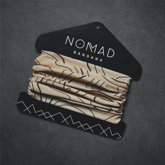 Bandana Curva de Nível Nomad - Bege+Preto