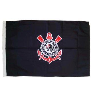 Bandeira Corinthians Símbolo Preta Oficial