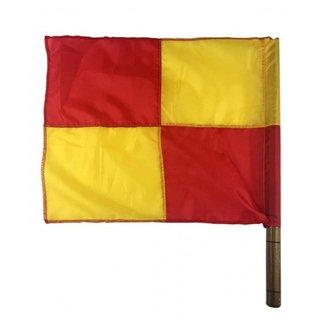 Bandeira para Árbitro Auxiliar de Futebol com Cabo de Madeira