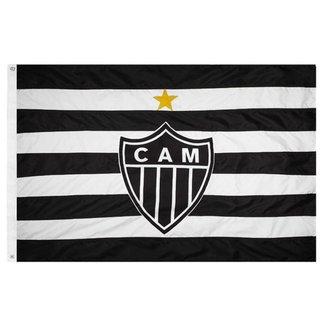 Bandeira Tradicional 3 Panos 1,92 X 1,35 Cm. Atlético Mg