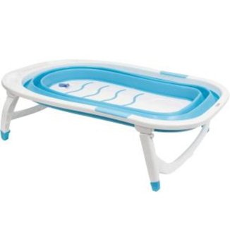Banheira Baby Dobrável - Azul Buba Baby