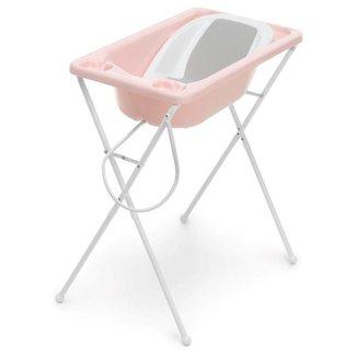 Banheira de Bebê Plástica Galzerano Acqua Trio Rosa Perola