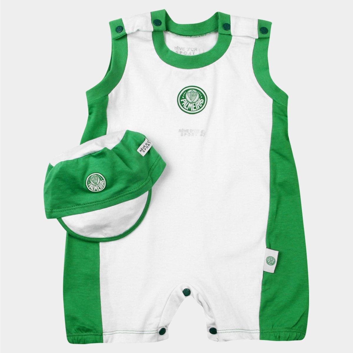 Banho de Sol e Boné Palmeiras Bebê - Verde e Branco - Compre Agora ... 9a0ee2e1c0b