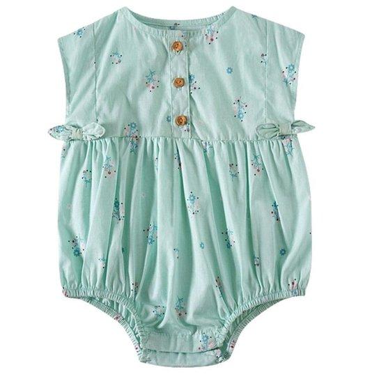 Banho De Sol Infantil Feminino Tip Top Florzinha - Verde