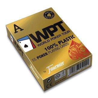 Baralho Fournier Wpt Gold Edition Poker Jumbo 55Ct Vermelho