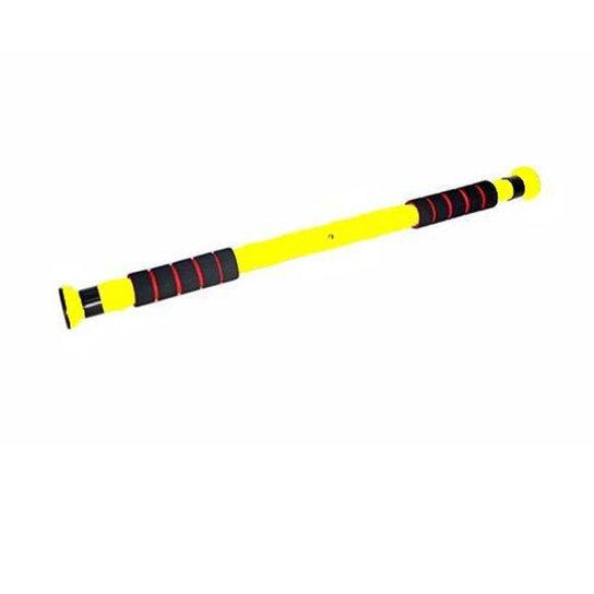 Barra de porta ajustável para exercícios WCT Fitness - Amarelo