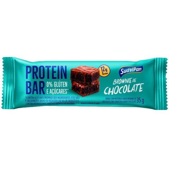 Barra De Proteína  Brownie Zero Display C/ 12 Und. - Verde água