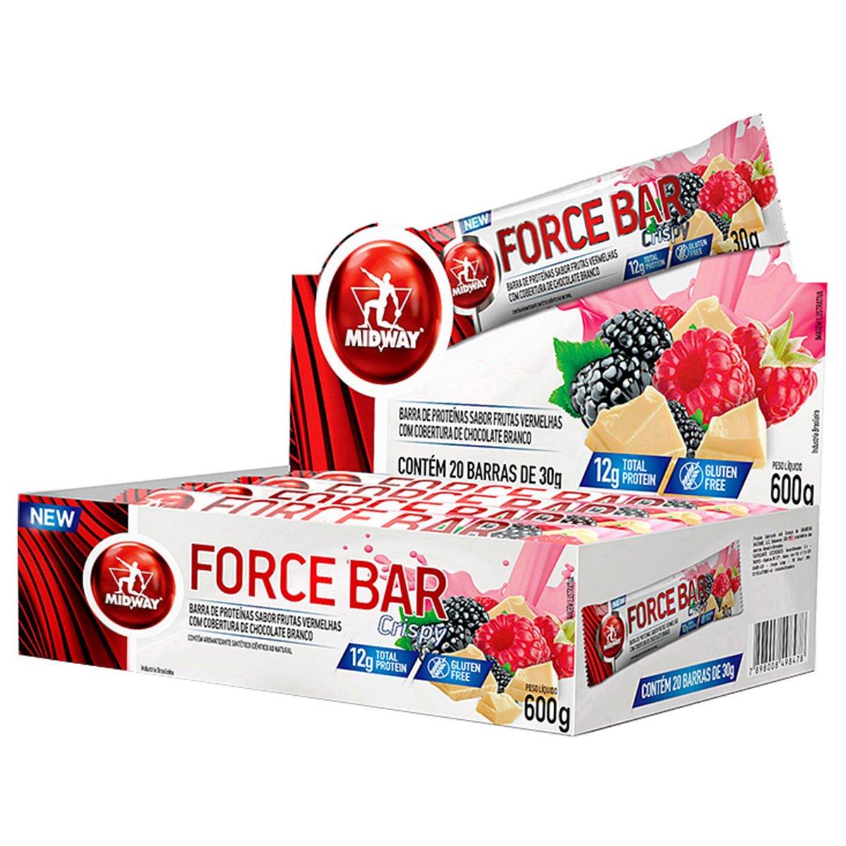 04cbc13ac Barra de Proteína Force Bar Crisp - Midway 20 Unidades - Compre Agora