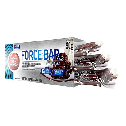Barra de Proteina Force Bar Protein Midway c/ 3 Unid. 30g