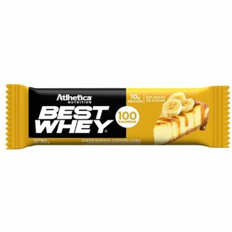 Barra Proteica Best Whey - 1 Barra 30g Banana Caramelizada - Atlhetica Nutrition