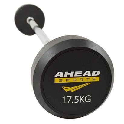 Barra Reta Ahead Sports Montada 17,5 KG - Unissex