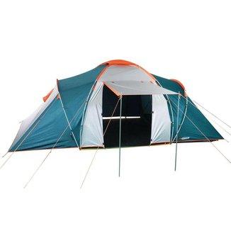 Barraca Camping Férias Explorer 4/6 Pessoas 2500mm Coluna D'água Duas Portas com Avanço