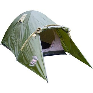 Barraca Camping/Férias Super Esquilo 6 Trilhas e Rumos 6 Pessoas Impermeável - Verde