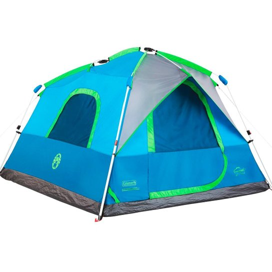 Barraca de Camping Coleman Signal Mountain Instant Cabin 4 Pessoas - Azul+Verde