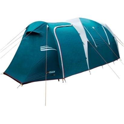 A barraca possui tensionadores, dutos das varetas, estacas extra dimensionadas para melhor ancoragem e elásticos estabil...