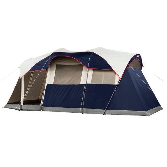 Barraca De Camping Para 6 Pessoas Coleman Elite Weathermaster Com Iluminação Led Embutida - Marinho