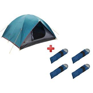 Barraca Nautika Cherokee GT 3/4 Pessoas + 4 Sacos de Dormir Viper Preto e Azul