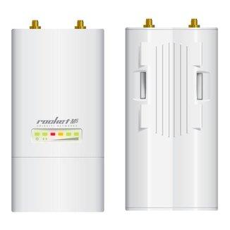 BaseStation Ubiquiti Rocket M5 airMAX - 5 GHz - 1 porta PoE 100Mbps - Throughput TCP até 150Mbps