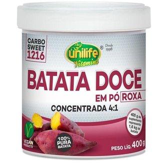 Batata Doce Roxa em pó 100% Pura 400g Unilife