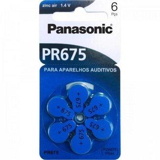 Bateria Auditiva ZINC AIR 1,4V 605MAH com 6 PR-675BR/300