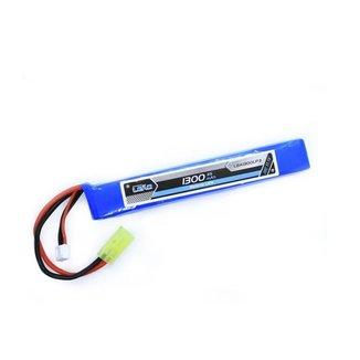 Bateria De Airsoft Lipo  11.1v/3s - 1300mah - 20c/40c  - Leã