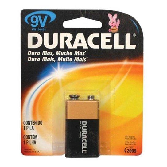 Bateria Duracell Plus Power - Alcalina - 9V - MN1 - Preto
