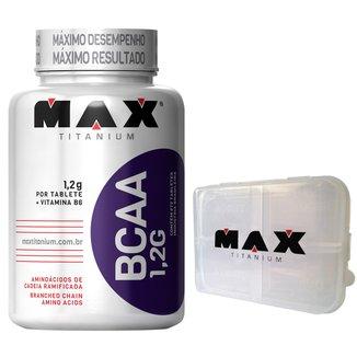BCAA 1,2 g 120 Tabs + Porta Cápsula - Max Titanium