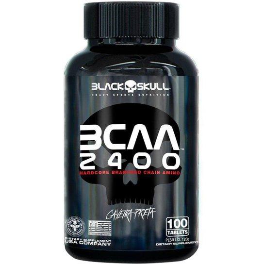 Bcaa 2400 100 caps - Black Skull - Verde+Cinza