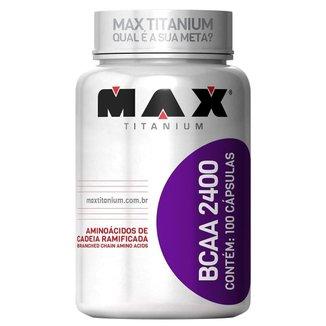 BCAA 2400 100 Cáps. - Max Titanium