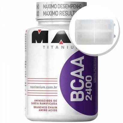 BCAA 2400 – 100 cápsulas + Porta Cápsulas transparente – Max Titanium