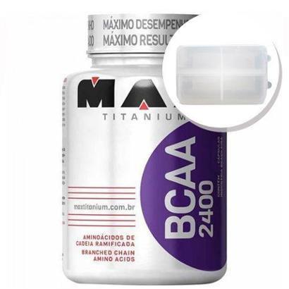 BCAA 2400 – 200 cápsulas + Porta Cápsulas transparente – Max Titanium