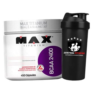 Bcaa 2400 450 Cápsulas - Max Titanium - Aminoácido + Coqueteleira