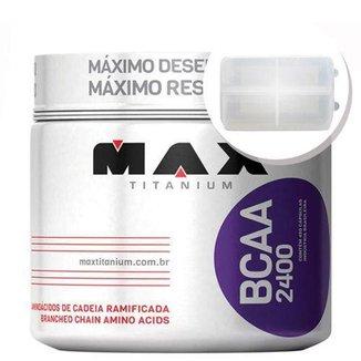 BCAA 2400 - 450 cápsulas + Porta Cápsulas transparente - Max Titanium