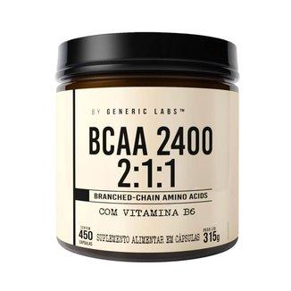BCAA 2400 MAX (450 Cápsulas) - Generic Labs