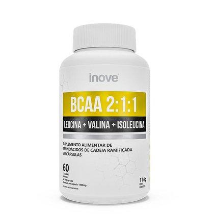 BCAA 2:1:1 - 60 cápsulas - Inove Nutrition