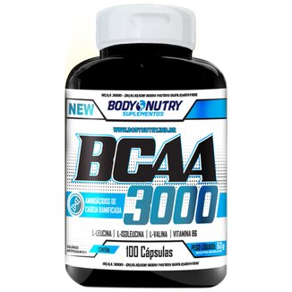 Bcaa 3000 - 100 Cápsulas - Body Nutry