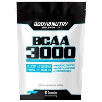 BCAA 3000 Refil - 50 Cápsulas 30g - Body Nutry