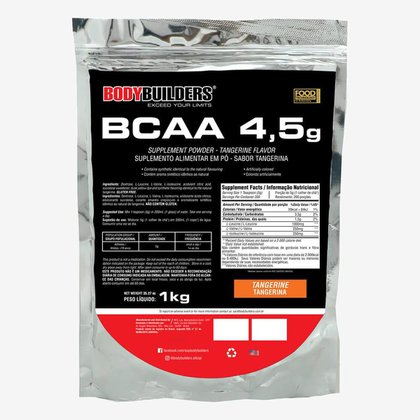 BCAA 4,5g Tangerina 1kg - Bodybuilders