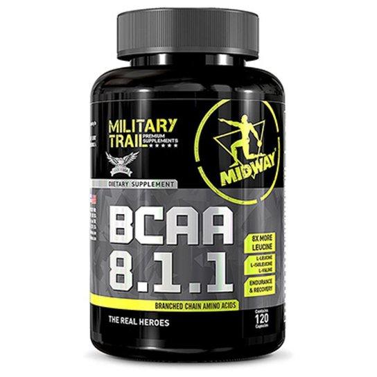 BCAA 8.1.1 120 Cápsulas Military Trail - Midway -