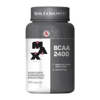 BCAA MAX 2400 100 Cáps - Max Titanium